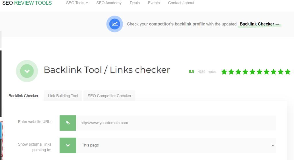 seo review tools free backlink seo checker tools