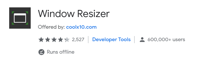 window resizer chrome extension seo