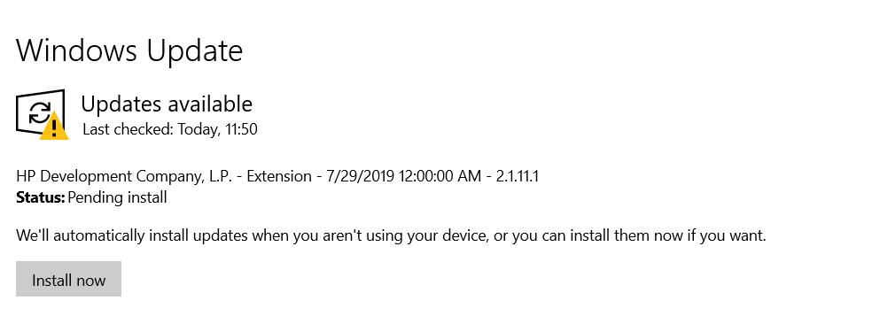 windows update notification to speed up windows